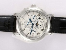 Fake Fancy Vacheron Constantin Malte Chronograph Automatic with White Dial AAA Watches [F9W9]