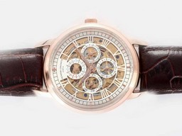 Fake Gorgeous Vacheron Constantin Chronometre Royal Automatic Rose Gold Case AAA Watches [N5G2]