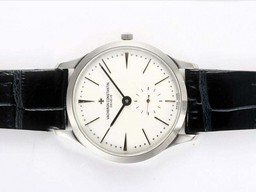 Fake Gorgeous Vacheron Constantin Patrimony Manual Winding with White Dial AAA Watches [B7Q1]
