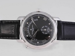 Fake Great Vacheron Constantin Patrimony Day-Date Flyback With Black Dial AAA Watches [N1B6]