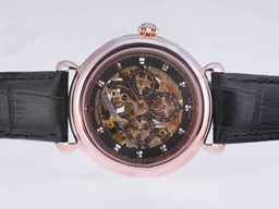 Fake Great Vacheron Constantin Skeleton Perpetual Calender with Rose Gold Case AAA Watches [L5M9]