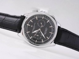 Fake Modern Vacheron Constantin Classic Chronograph Automatic with Black Dial AAA Watches [A1P8]