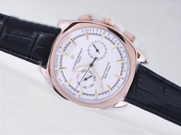 Fake Modern Vacheron Constantin Classic Chronograph Automatic Rose Gold Case AAA Watches [V5C8]