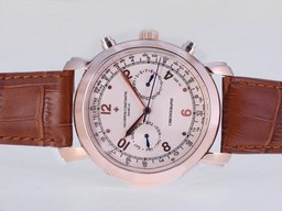 Fake Modern Vacheron Constantin Malte Chronograph Automatic Rose Gold Case AAA Watches [K5O2]