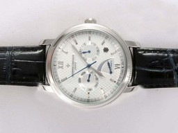 Fake Perfect Vacheron Constantin Jubile 1755 Working Power Reserve with White Dial AAA Watches [K7O8]