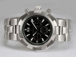 Fake Perfect Vacheron Constantin Overseas Chronograph Automatic with Black Dial AAA Watches [H9F7]