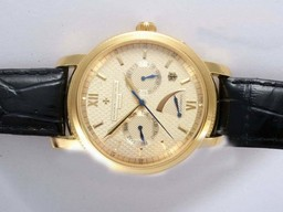 Fake Perfect Vacheron Constantin Patrimony Manual Widing Gold Case with White Dial AAA Watches [I2O6]