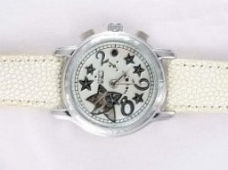 Fake Gorgeous Zenith Star Open Sea Automatic with White Dial Lady Model AAA Watches [X7S3]