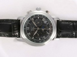 Fake Modern Zenith Port Royal Chronograph Automatic Moonphase with Black Dial AAA Watches [B5T3]