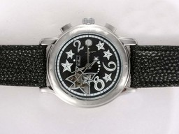 Fake Popular Zenith Star Open Sea Automatic with Black Dial Lady Model AAA Watches [S2X9]