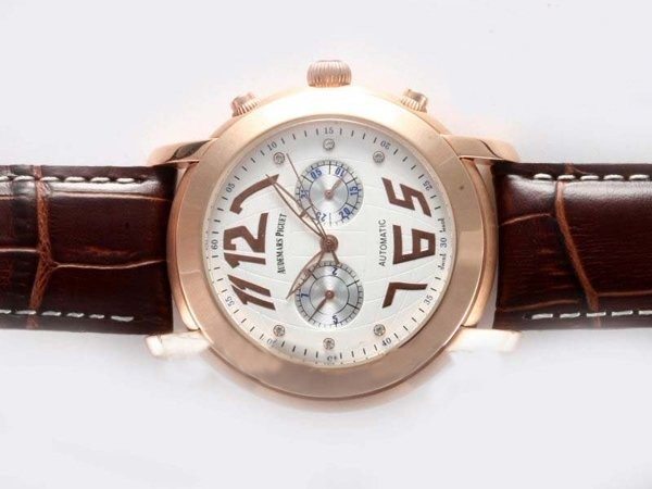 Fake Quintessential Audemars Piguet Jules Audemars Chronograph Automatic Rose AAA Watches [C5R6]