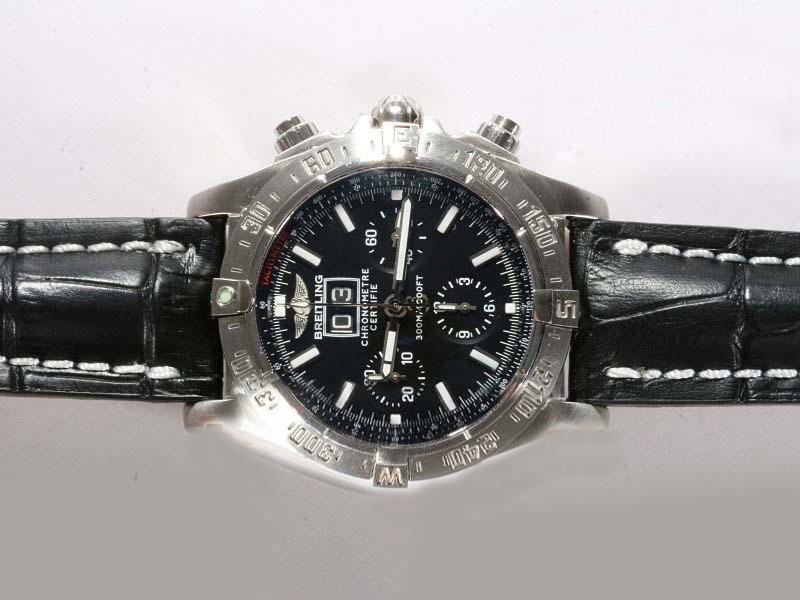 Fake Fancy Breitling Black Bird Chronograph  Movement AR AAA Watches [O2S8]