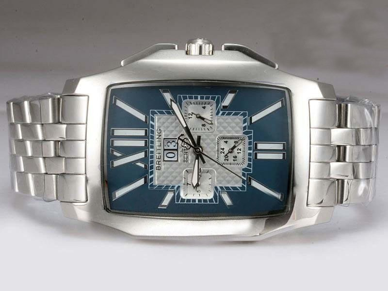 Fake Populära Breitling Bentley Flying B Chronograph Automatic -Blue Dial AAA klockor [ P9P2 ]