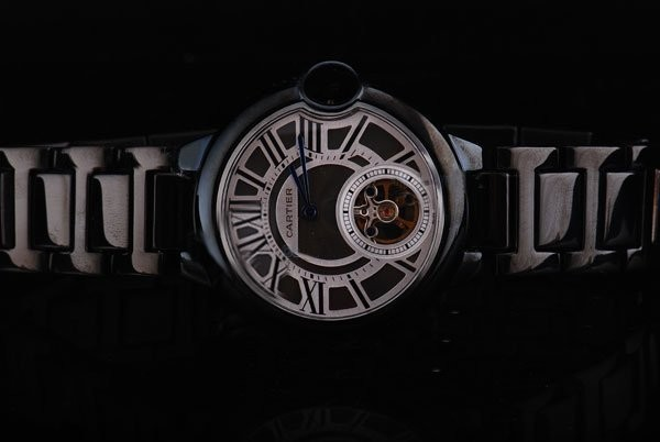 Fake Cool Cartier Ballon Bleu de Cartier Automatic PVD Case with Black Dial AAA Watches [X7N9]