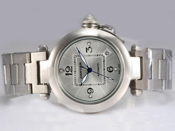 Fake Fancy Cartier Pasha Automtic with Silver Dial AAA Watches [L1P9]