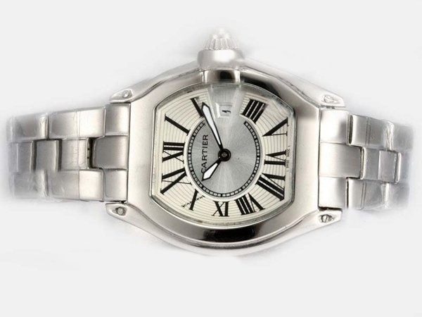 Fake Fancy Cartier Roadster Pink Dial - ladys Malli AAA kellot [