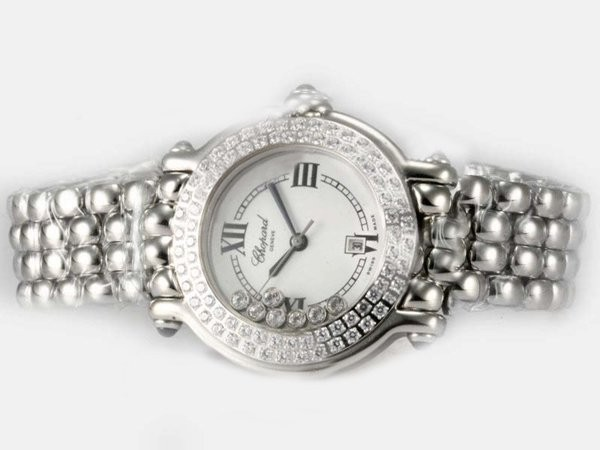 Fake Vintage Chopard Happy Sport with Diamond Bezel MOP Dial AAA Watches [J4E7]
