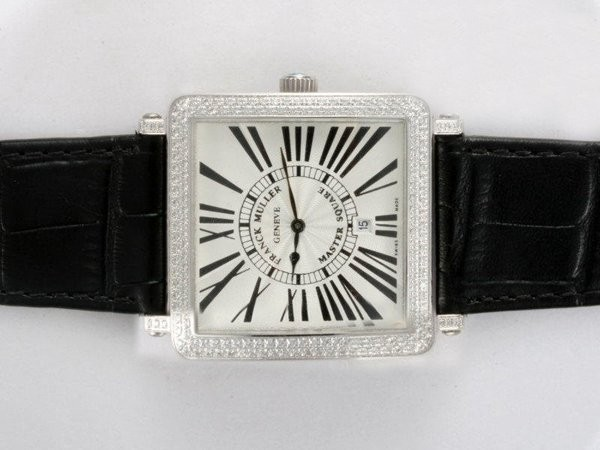 Fake Great Franck Muller Master Square Diamond Bezel AAA Watches [F3A8]