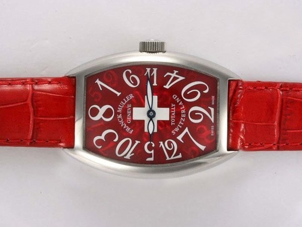Fake Modern Franck Muller Crazy Hours Totally Switzerland Automatic with Red AAA Watches [A6O8]