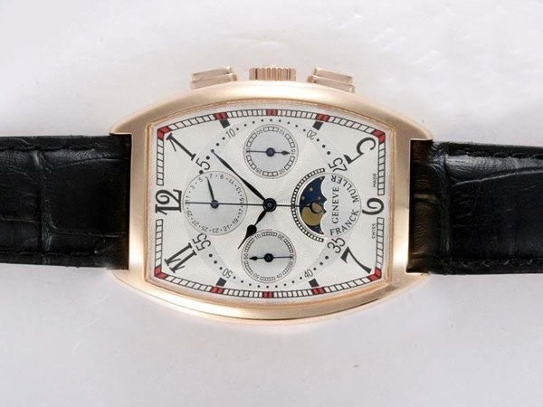 Fake Modern Franck Muller Curvex Chronograph Lemania Movement Rose Gold Case AAA Watches [B3O8]