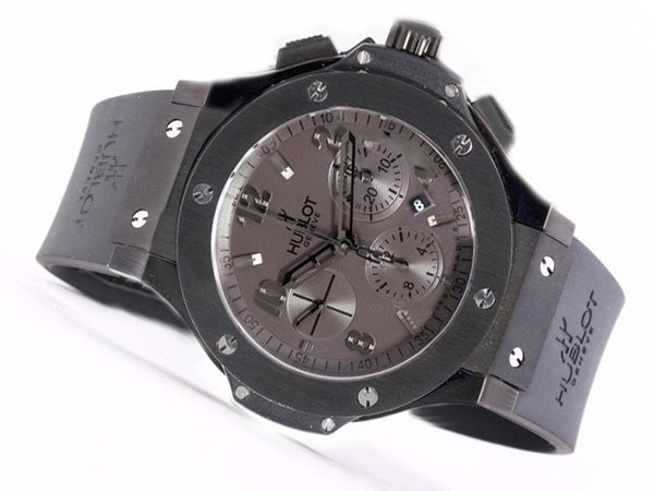 Fake Perfect Hublot Big Bang Chronograph Asia Valjoux 7750 Movement PVD Case AAA Watches [U4H5]