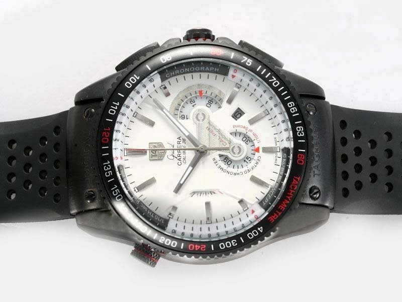 Fake Modern Tag Heuer Aquaracer 300 Meters Working Chronograph Same Chassis As  Movement AAA Watches [J4K6]