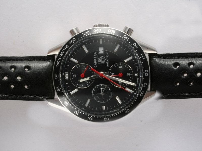 Fake Quintessential Tag Heuer Grand Carrera Calibre 36 Working Chronograph with Black Dial AAA Watches [L1W6]