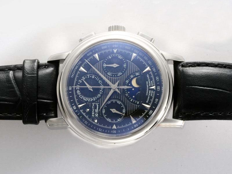 Fake Cool Zenith El Primero Chronomaster Lemania Movement Manual Winding AAA Watches [O3V8]
