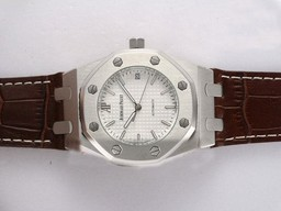 Fake Cool Audemars Piguet Royal Oak Automatic White Dial AAA Klokker [ X4H6 ]