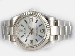 Fake Cool Rolex Air -King Oyster Perpetual Automatisk med White Dial AAA Klokker [ L8I1 ]