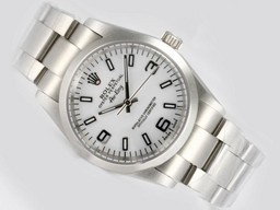 Fake Cool Rolex Air -King Oyster Perpetual Automatisk med White Dial AAA Klokker [ L3U9 ]