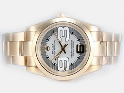 Fake Cool Rolex Air -King Oyster Perpetual Automatisk To Tone med Beige Dial AAA Klokker [ X8M5 ]