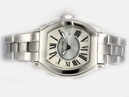 Falso Fantasia Cartier Roadster com rosa Dial- Ladys modelo AAA Relógios [ L7L9 ]