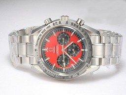 Falso Popular Omega Speedmaster Chronograph Automatic com Red Dial AAA RelГіgios [ A9I6 ]